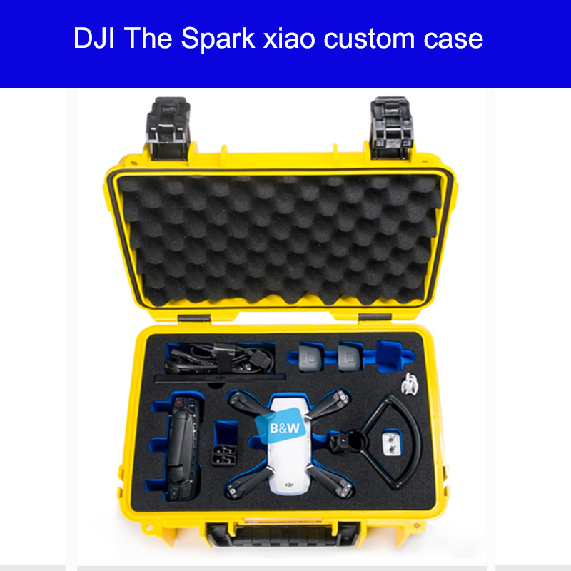 B&W DJI The Spark xiao custom case drones waterproofing Moisture proof Explosion-proof box Portable safety box type3000 waterproof spark bag box case accessories for dji spark drone storage bag carry case