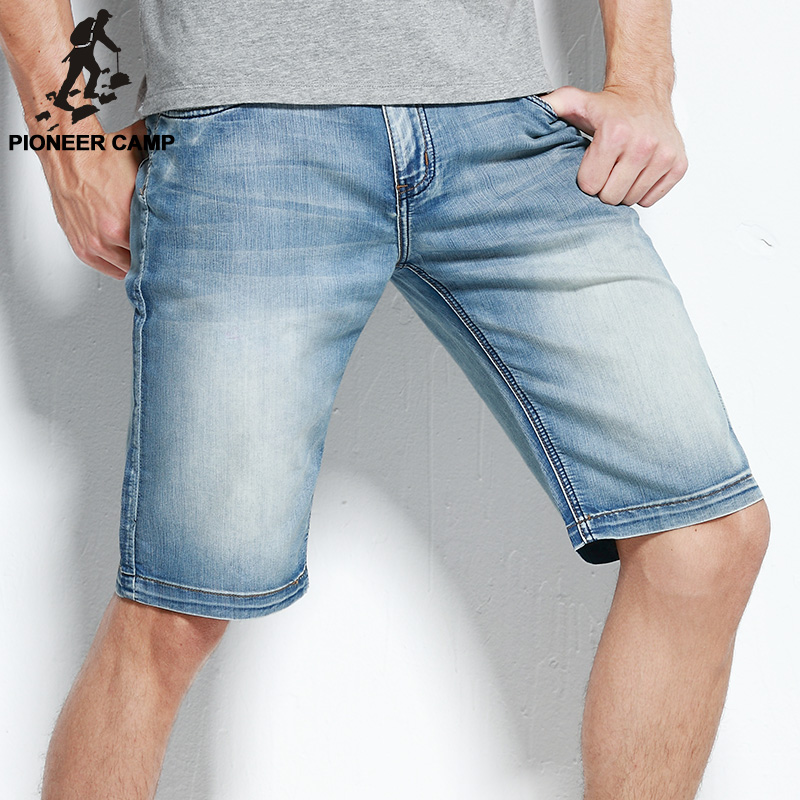 Pioneer Camp new fashion mens short jeans cotton summer style shorts thin breathable denim shorts men