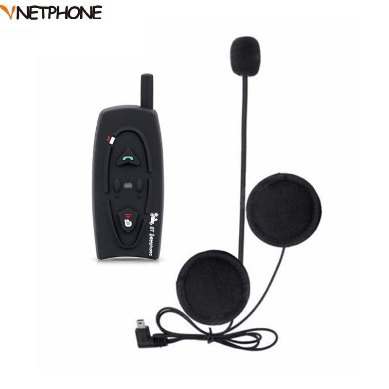 VNETPHONE 500M Bluetooth Motorcycle Helmet Intercom Headset Wireless Interphone Earphone for 2 Riders Handsfree Helmet Headphone