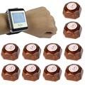 1 Relógio Receptor + 10 Botão de Chamada Restaurante Pager Sistema de Chamada Sem Fio Restaurante Equipamentos F4428A