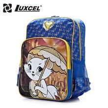 Luxcel mochila niño bebé niño de las muchachas mochila escolar gato mochila de dibujos animados para niños