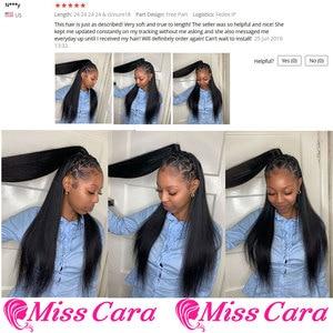 Image 5 - פרואני ישר שיער חבילות עם פרונטאלית מתגעגע קארה 100% רמי שיער טבעי 3/4 חבילות עם סגירת 13*4 חזיתי עם חבילות