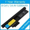 New 8 cell 5200mah laptop battery for lenovo ThinkPad X200 Tablet X201t X200t 42T4564 43R9257 43R9256 ASM 42T4565 FRU 42T4657