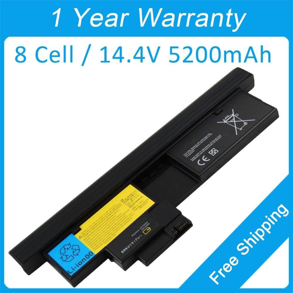 New 8 cell 5200mah laptop battery for lenovo ThinkPad X200 Tablet X201t X200t 42T4564 43R9257 43R9256 ASM 42T4565 FRU 42T4657