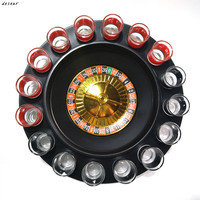 2017 New arrive wholesale and retail drinking Roulette Set Shot Glass Roulette Set Novelty Drinking Game with 16 Shot Glasses