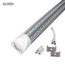 T8 intégré V forme tube de LED tube de lumière pas de lampe de scintillement 2835 lumière LED 4ft = 28W 8ft = 65W AC85 265V magasin de tubes LED aux états unis