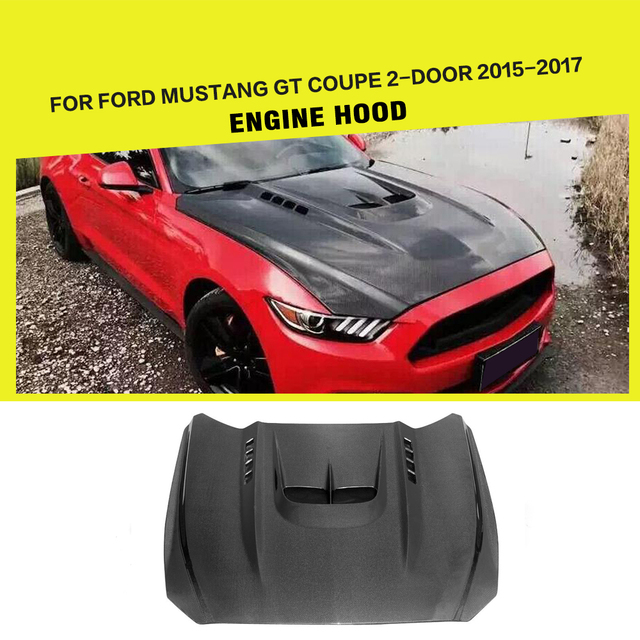 Carbon Fiber Car Styling Engine Hood Auto Bonnet for Ford Mustang Coupe Convertible 2-Door 2015 - 2017