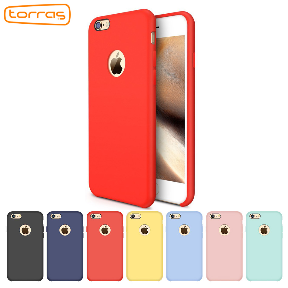 TORRAS Liquid Silicone Case for iPhone 6 6s Plus Shockproof Phone Case Luxury Protective Microfiber Phone Cover for iPhone7 Plus