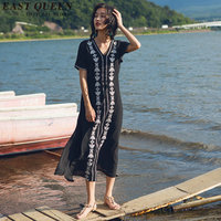 Hippie bohemian style long hippie dresses mexican embroidered dress boho chic dresses DD025 C