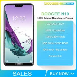 Image 2 - Doogee N10 携帯電話 3 ギガバイトのram 32 ギガバイトrom 5.84 インチfhd + 19:9 ディスプレイ 16.0MPカメラ 3360 mah 4 glteスマートフォン