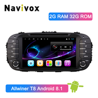 Navivox 2 Din Android 8.1 Car Multimedia Player For Kia Soul 2014 2017 with AF/FM Radio Stereo GPS Navigation Wifi Bluetooth RDS