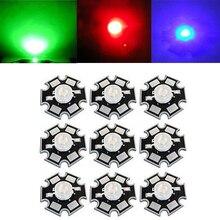 купить Lot 1W 2W 3W 30mil 45mil  Blue 445nm-460nm Red 620NM-630NM Deep Red 660nm-665nm, Green 520nm-530nm Led Light Lamp по цене 232.52 рублей