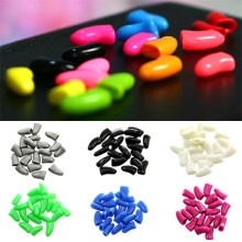 20Pcs Colorful Soft Pet Dog Cat Kitten Paw Claw Care Control Nail Caps Cover 3TH2(China)