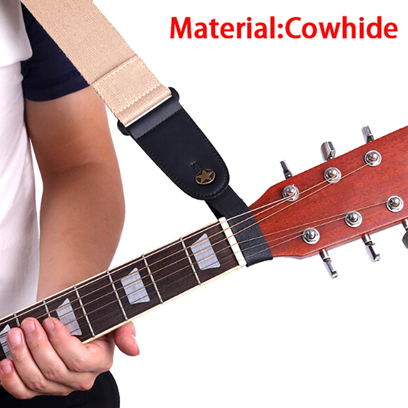 1pc Classic Guitar Bass Leather Guitar Strap Holder Button Stringed Instruments Safe Lock For Acoustic Electric Clearance Price