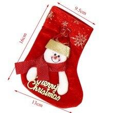 Hoomall 2PCs Santa Sacks Christmas Stockings Gift Holders Snowman Xmas Tree Ornaments Navidad Kids Gift Bags New Year Decoration