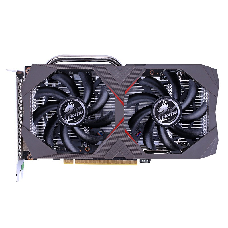 BUNTE <font><b>GeForce</b></font> <font><b>NVIDIA</b></font> GTX1660Ti ES 6G Gaming Grafikkarte 6 GB GDDR6 192bit 1500-1770 MHz DVI + HDMI + DP iGame Video Karte für PC image