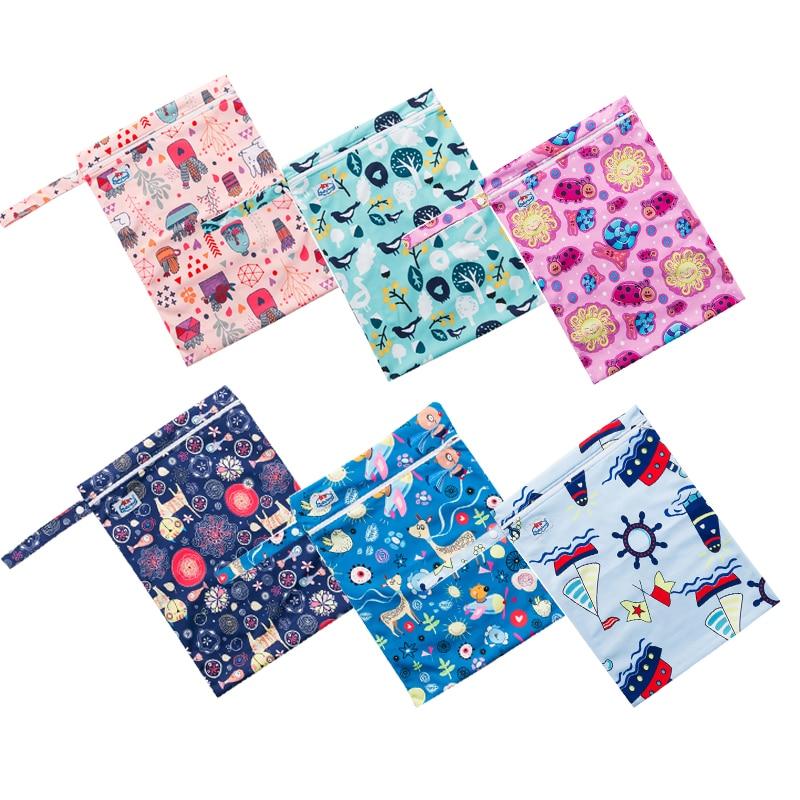 Waterproof Zipper Wetbags 50pcs A Package Wholesale Price Diaper Bags Multi Function Swim Suit Nappy Bags