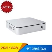 HTPC Mini ITX PC Case home cinema Horizontal Desktop Computer Chassis IN Aluminum Alloy HTPC home theater Case USB 3.0