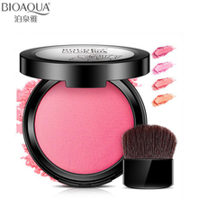 BIOAQUA New 4 Color Blusher Waterproof pigment Modified Contour Mineral Powder Face Makeup Natural Lasting Shiny Pink Blush