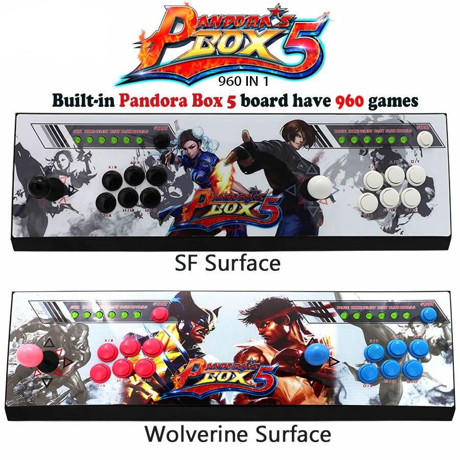 Pandora boîte 5 960 dans 1 Arcade Jeu Console pour TV et PC et PS3 Moniteur Soutien HDMI et VGA Sortie avec Copie Sanwa Joystick