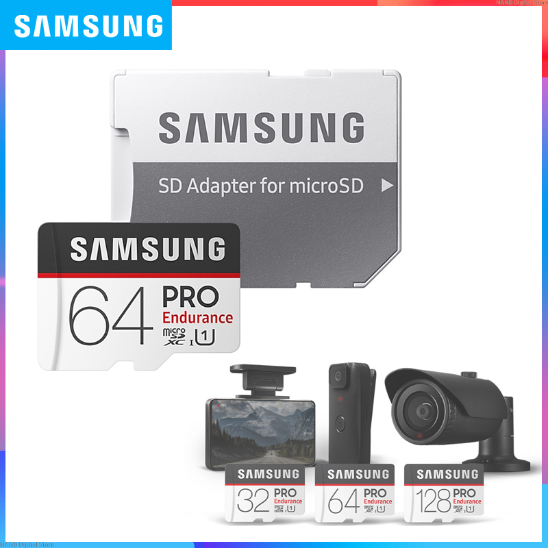 <font><b>SAMSUNG</b></font> <font><b>PRO</b></font> Endurance microCard 128GB 64GB 32GB Class 10 microSDHC/SDXC Card Read speed Up to 100MBs for Video Surveillance image