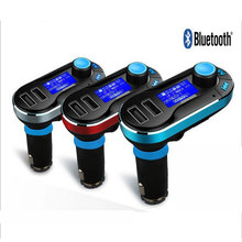 Hot voiture FM Transmitter Wireless Bluetooth Music Hands-free Calling MP3 Player Car Kit USB Charger SD LCD 3 Color
