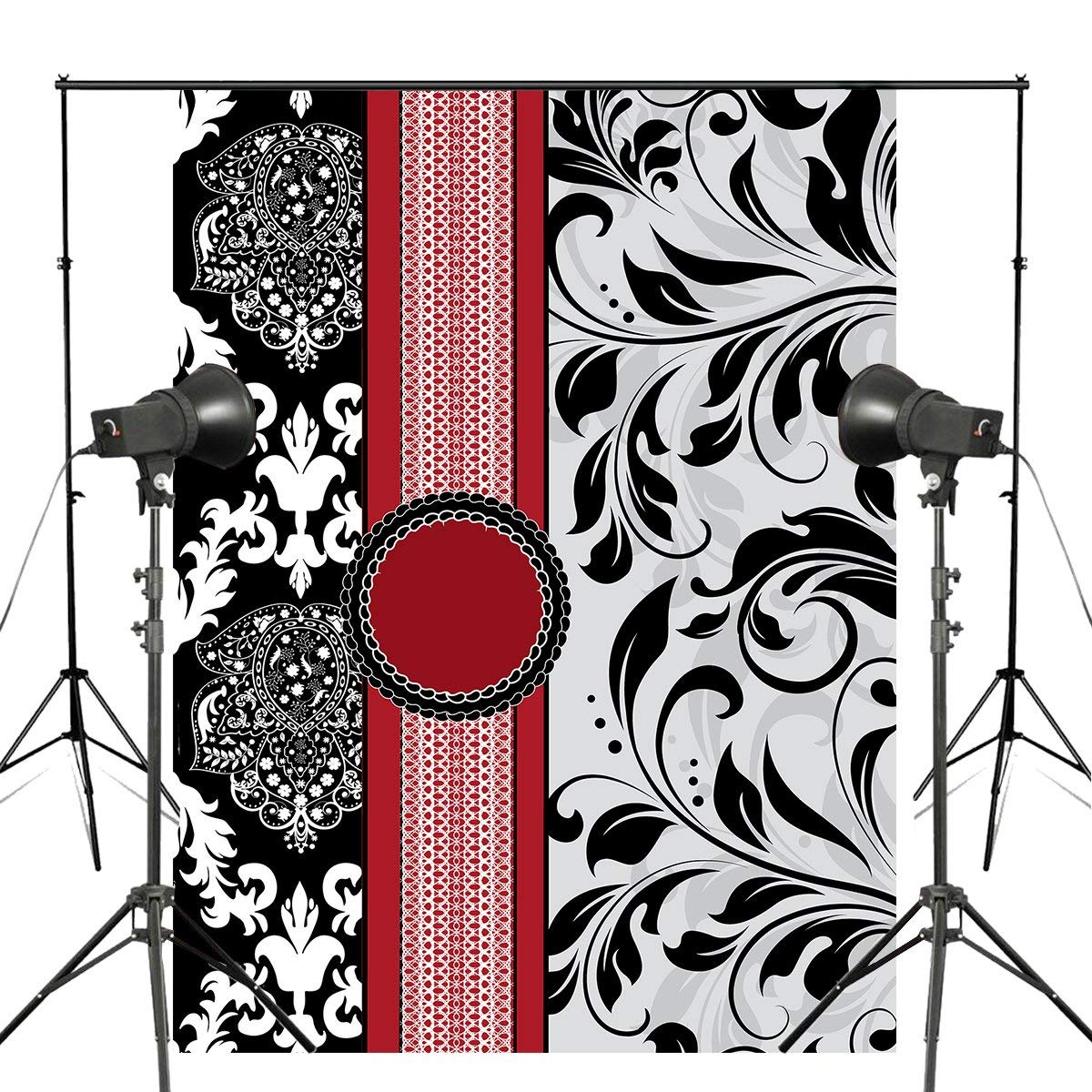 Classic European Pattern Photography Backdrop Flower Shape photo studio backgound 5x7ft Classical mural wall backdrops-in Photo Studio Accessories from Consumer Electronics