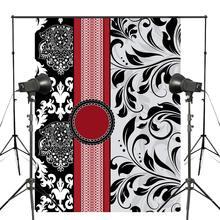 Fondo de fotografía de patrón europeo clásico con forma de flor para estudio fotográfico backgound 5x7ft mural clásico fondos de pared