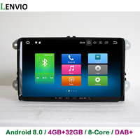 Lenvio 4GB 32GB Octa Core 2 Din Android 8 0 CAR DVD GPS Player For Skoda