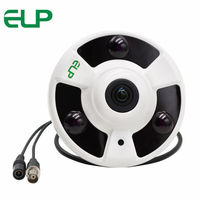 720P AHD Surveillance Panoramic 360 Degree View Camera 3pcs Array LED Fisheye AHD Camera With 5MP