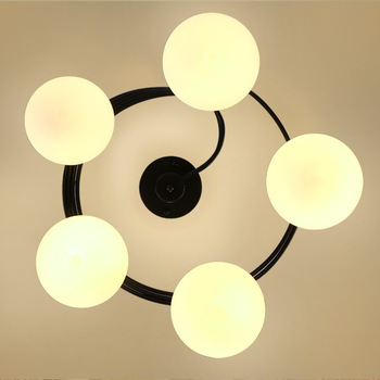 American living room lamp ceiling lamp Nordic creative wrought iron lighting modern warm master bedroom dining room lamps