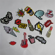 hot sale 16 kind of select hot melt adhesive applique embroidery patch DIY clothing accessory patch 1pcs sell C413-C431