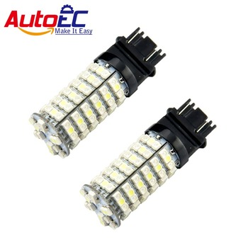 AutoEC 50X T25 3157 120smd 1210 3528 3356 3456 3357 12V White+yellow Dual color Intensity Tower Stop Signal light #LE11