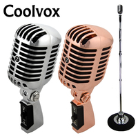 Free Shiping Professional Silver Deluxe Vocal Microphone Vintage KTV Microphone Classic Dynamic Moving Coil Microphone Z6