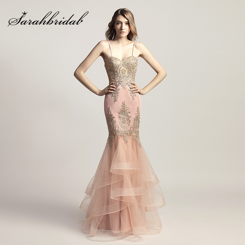 Spaghetti Strap Blush Mermaid ...