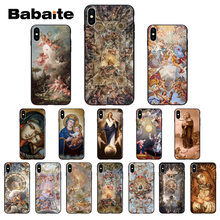 Babaite Madonna Church frescoes Angel God Silicone Soft TPU Phone Case for iPhone 7 8 6 6S Plus 5 5S SE XR X XS MAX Coque Shell(China)