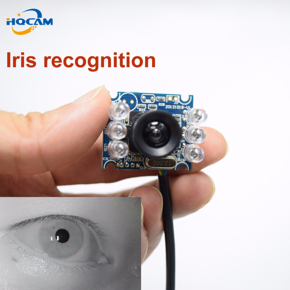 HQCAM 720P IR MINI USB Camera USB Infrared night vision mini camera Face recognition iris recognition 850nm narrow band effect купить