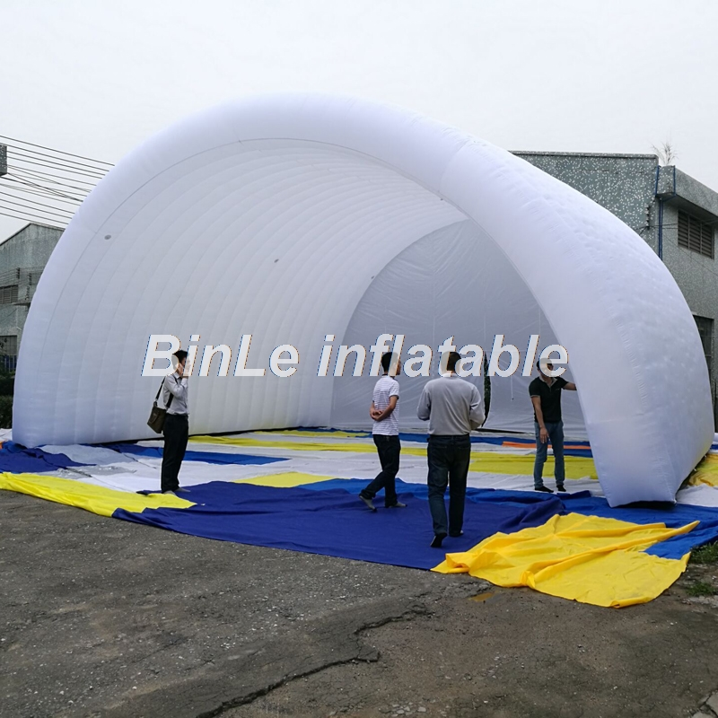 10x8x6m white waterproof oxford giant inflatable stage cover arch style stage tent open air roof canopy for concert or events esspero canopy