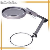 Hands Free Folding Desktop Magnifying Glass with Metal Handle MG83024 1 for Cross stitch