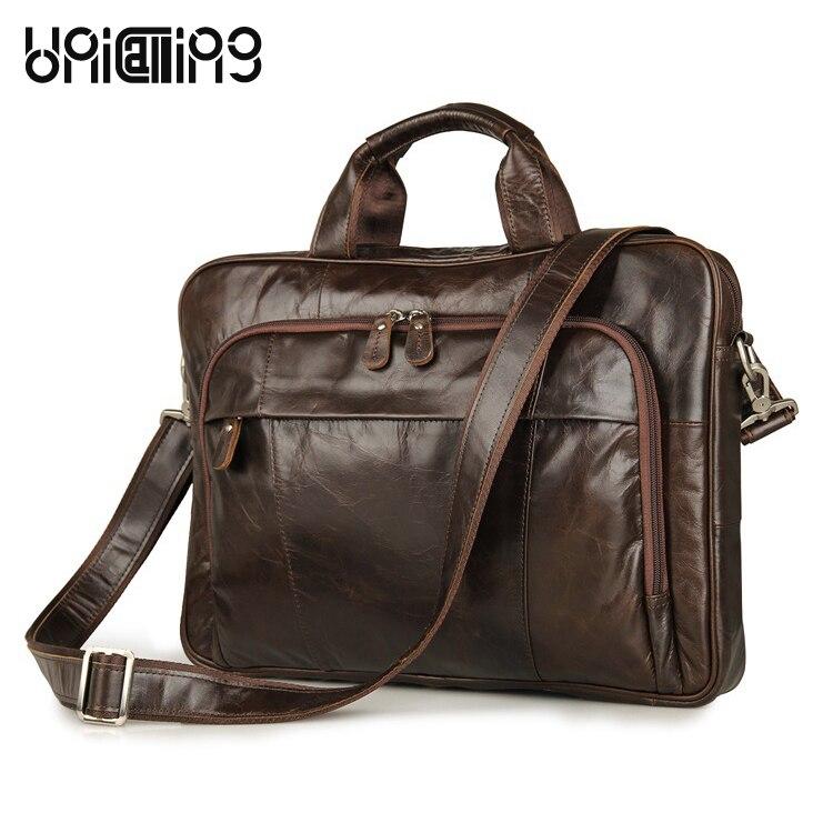 Leather laptop bag 15 inch brand high-grade quality genuine leather business men bag handbag real cow leather fashion men bag