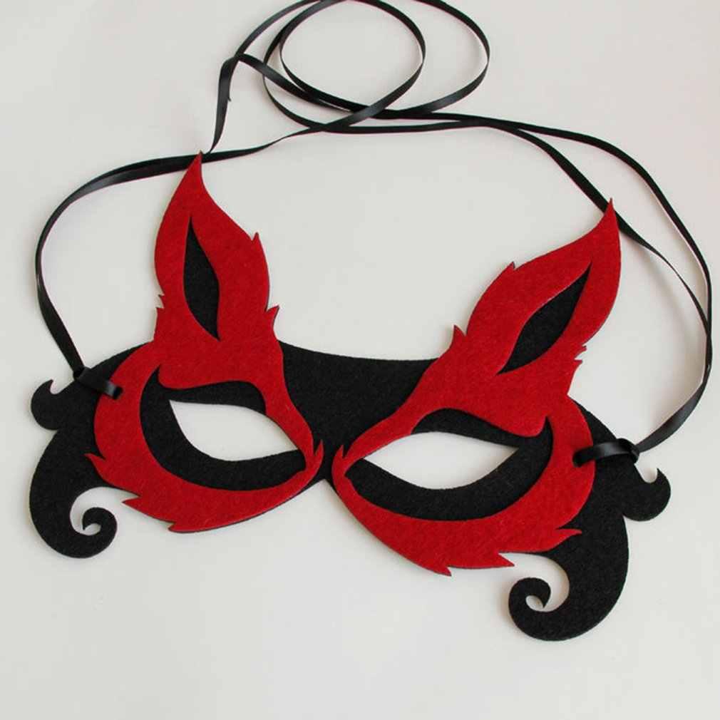 שועל חצי פנים מסכת Kh-2015woman צעיף מסיבת תחפושות לתחפושת תלבושות ליל כל הקדושים Masquerade מסכה מרתקת