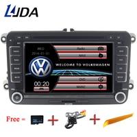 LJDA 2 дюймов Din 7 дюймов DVD плеер автомобиля для Фольксваген Passat мужские поло гольф для Skoda Seat Leon gps Navigaiton FM RDS карты радио 1080 P USB