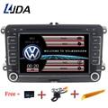 LJDA 2 Din 7 pouce Lecteur DVD de Voiture Pour VW Volkswagen Passat POLO GOLF Skoda Seat Leon GPS Navigaiton FM RDS Cartes Radio 1080 p USB