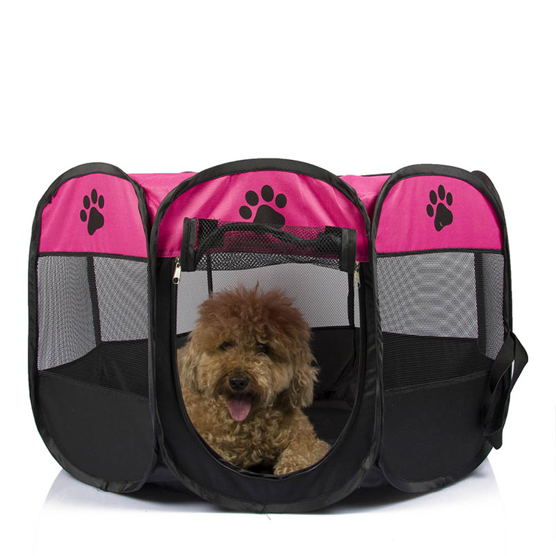 Foldable Octagonal Pet Tent Dog Fence Oxford Cloth Outdoor Cats Dogs Bed House Portable Dog Kennel Washable Small Large Dogs-in Houses Kennels u0026 Pens from ...  sc 1 st  AliExpress.com & Foldable Octagonal Pet Tent Dog Fence Oxford Cloth Outdoor Cats ...