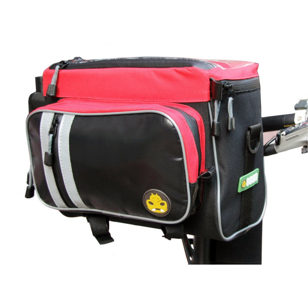 OGNS Bike Bicycle Front Pannier Top Tube Pouch Bag Anti-UV Polyurethane Waterproof cycling bag roswheel 1 8l cycling front tube pannier 5 5 5 inch double bag pouch