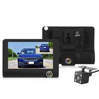 VODOOL L431 3 Lens Car DVR Camera 4 Screen GPS Radar Speed Detector Video Recorder Night Vision Dash Cam Russian Version DVRs