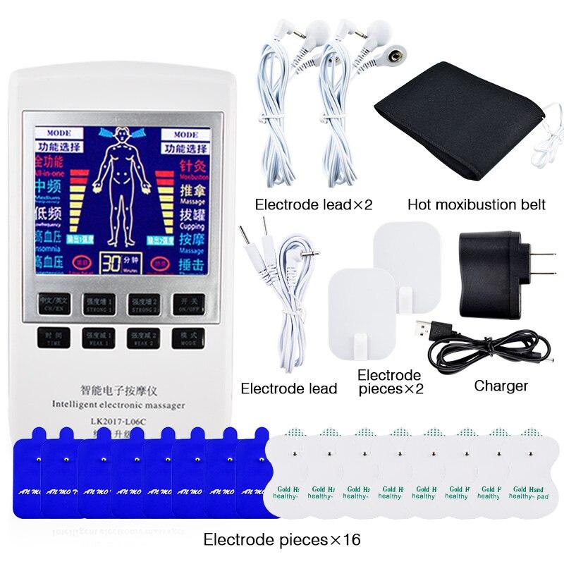 Multifunktionale Elektrische Stimulator Zehner-maschine Digitale Therapie ZEHN Maschine Digitale Therapie Massager Körper Knie Schmerzen Relief