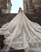 Роскошные арабские бисерные камни Соборная Фата цветочный подметка поезд Свадебные вуали