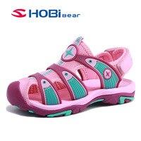 ... Hobybear подростковые детские сандалии для мальчиков девочки 2018 Лето  капитан детский молодой мальчик девочка с закрытым носком мода пляж  сандалии ... 0a9f9d56749