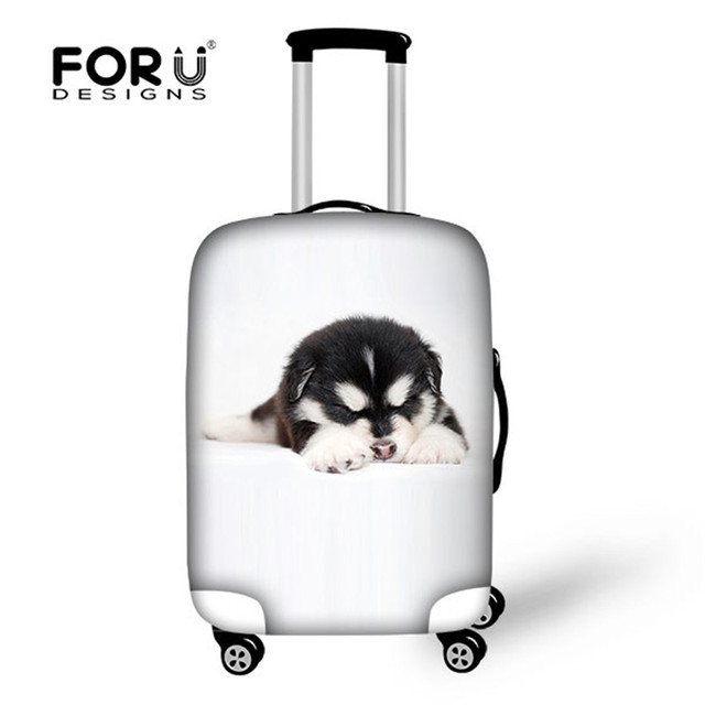 FORUDESIGNS 18-30inch Animal Cat Printed Travel Suitcase Luggage Protective Cover With Storage Bag High Waterproof Baggage Cover